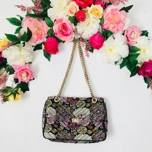 Steve Madden embroidery gold chain bag